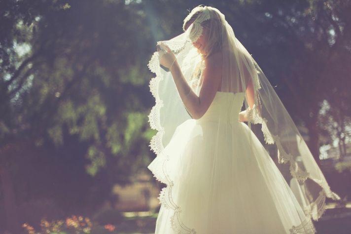 CLassic Vintage Bridal Veil Lace Trim