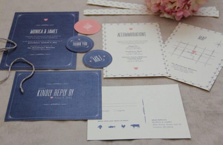 Modern Vintage Wedding Invites with a Rustic Twist