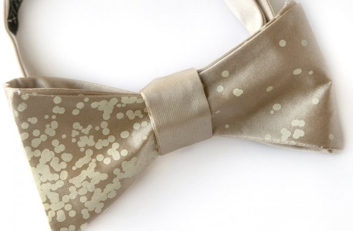 Champagne Bow Tie for Holiday Grooms
