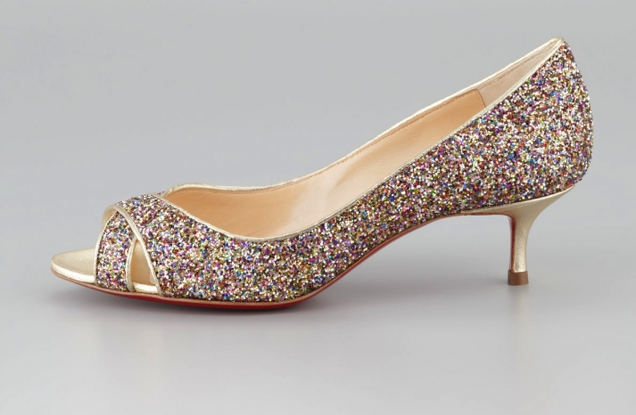 Low Heeled Wedding Shoes for Tall Brides Sparkly Kate Spade