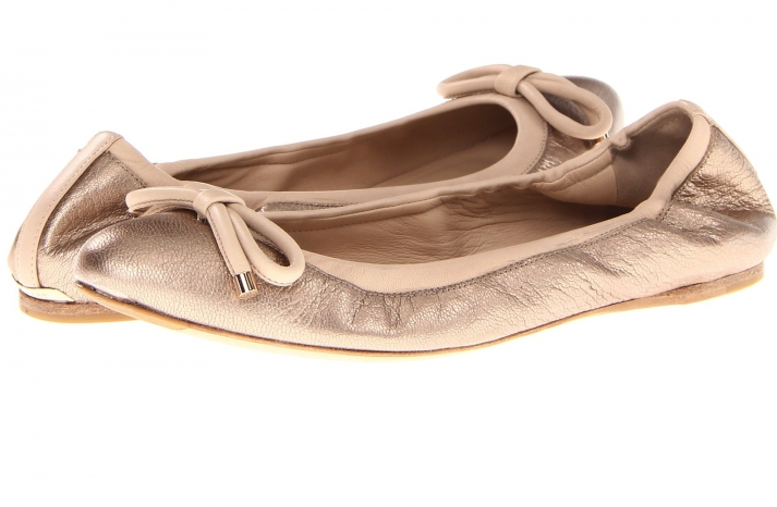Metallic Blush Wedding Shoes by Burberry