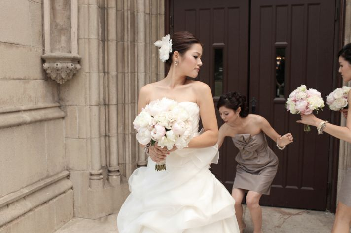 Soft Pink Peony Bridal Bouquet Classic California Wedding