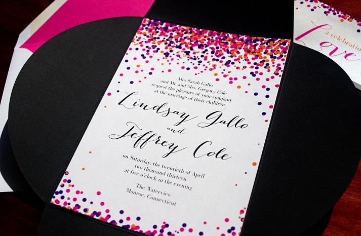 Confetti Inspired Wedding Invitations