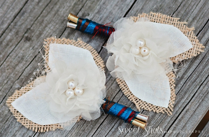 Rustic Festive Grooms Boutonnieres