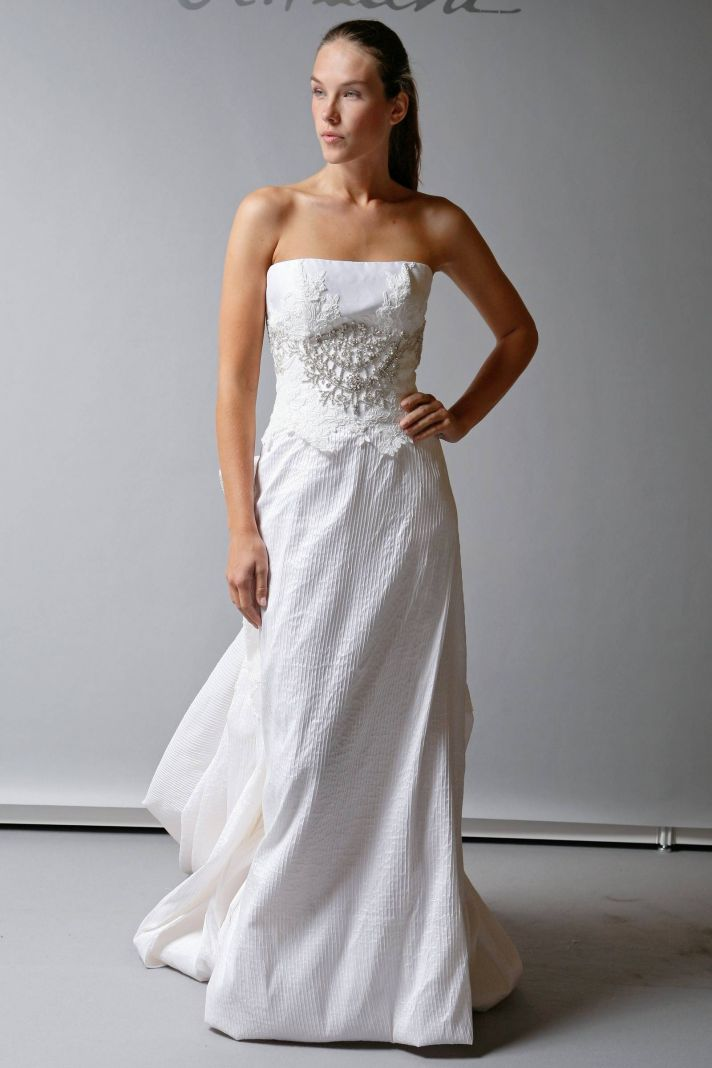 2013 Wedding Dress St Pucchi Bridal strapless white column