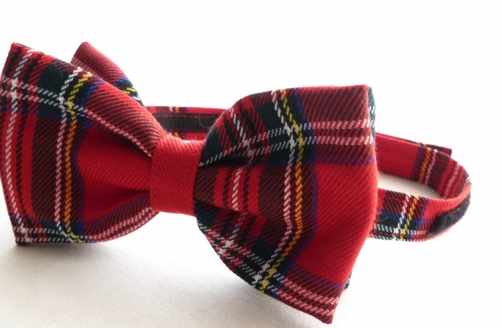 Plaid Bow Tie for Grooms