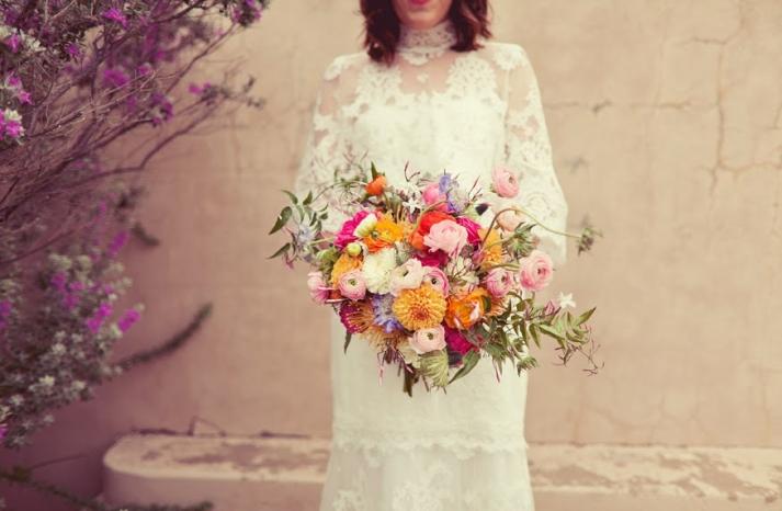 Whimsical Wildflower Wedding Bouquet