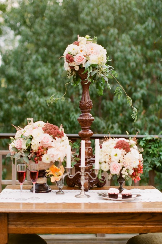 Simple Ivory Peach Wedding Bouquet