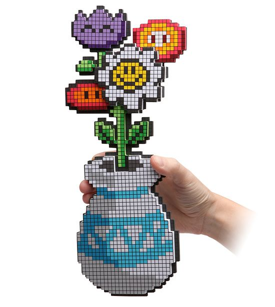 Gamer Weddings 8 bit flower centerpiece