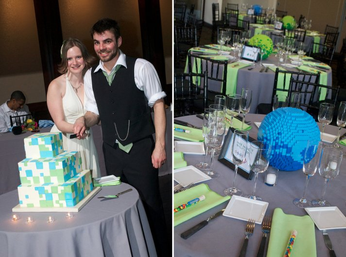 Geeky Wedding Ideas 8 bit cake