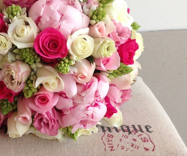 Roses and Peonies Romantic Bridal Bouquet