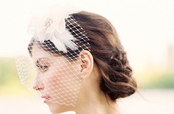 Classic Bridal Veil Birdcage Hair Accessory 2