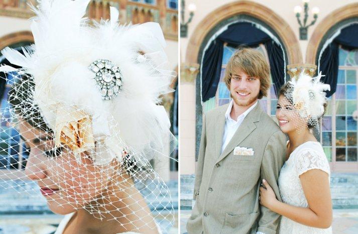 Classic Bridal Veil Birdcage Hair Accessory 4