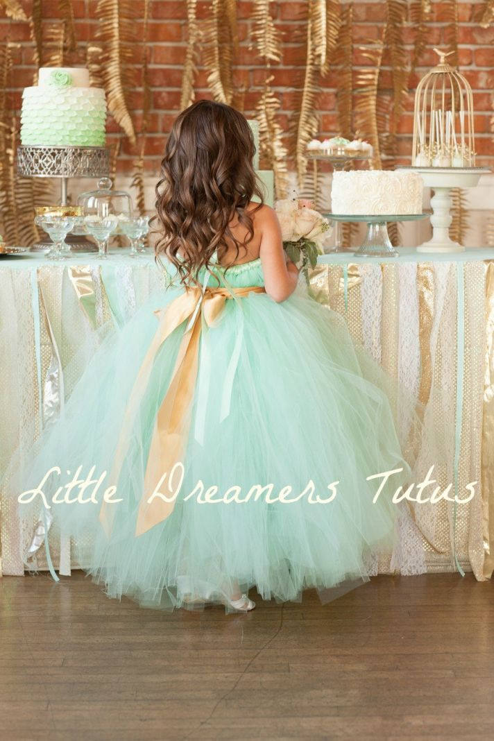 Wedding color inspiration mint gold and classic black for Mint and gold wedding dress