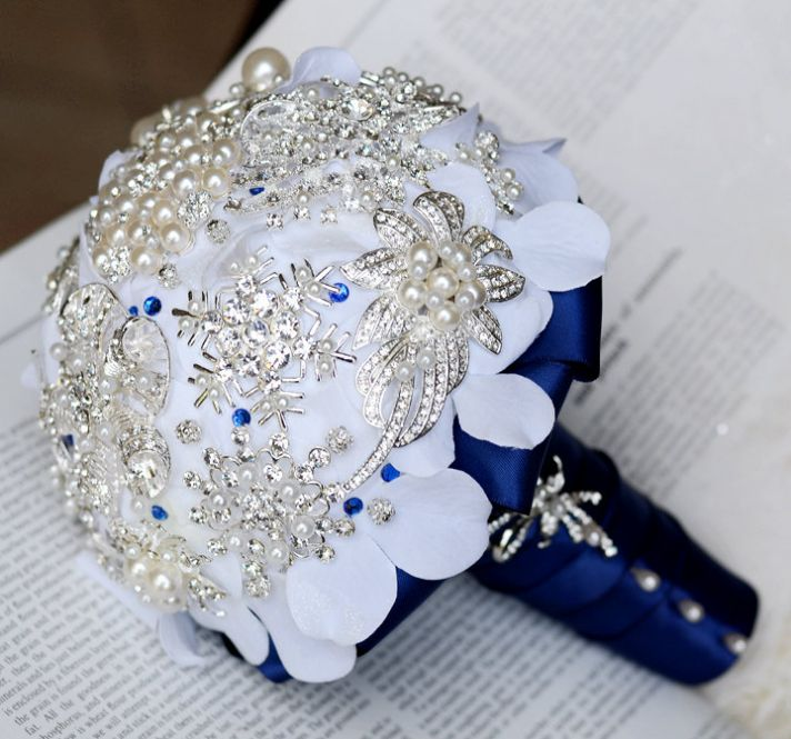 Eco Friendly Brooch Fabric Bridal Bouquet