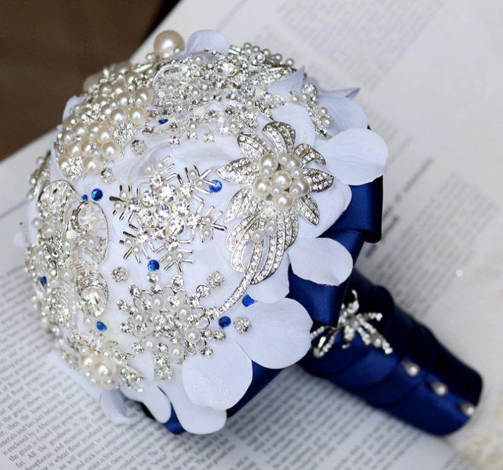 Eco Friendly Brooch Fabric Bridal Bouquet