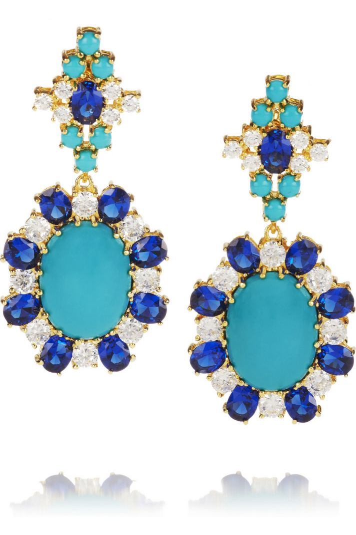 Something Blue Bridal Earrings Turquoise Sapphire