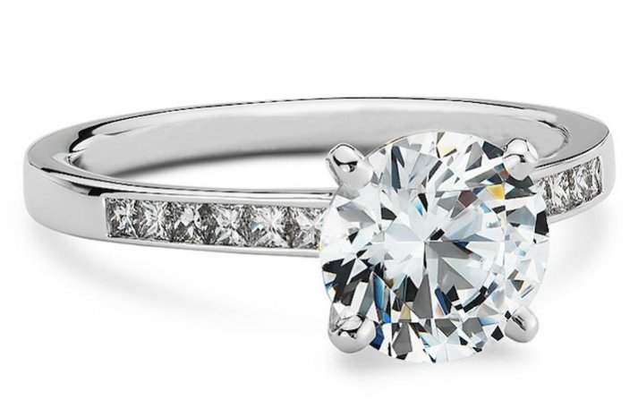 Blue Nile engagement rings Channel Set Princess
