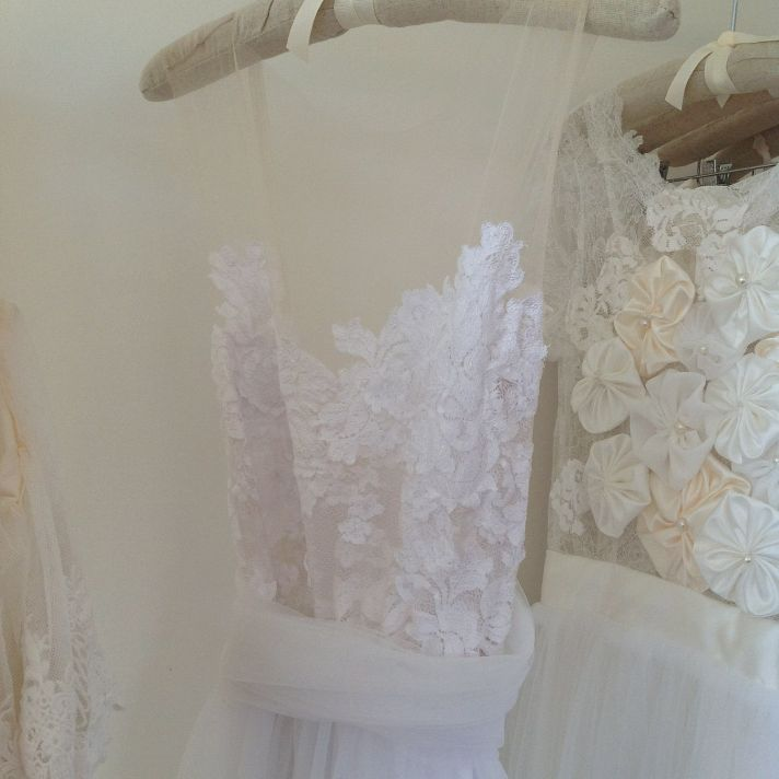 Illusion Neckline Romantic Wedding Dress