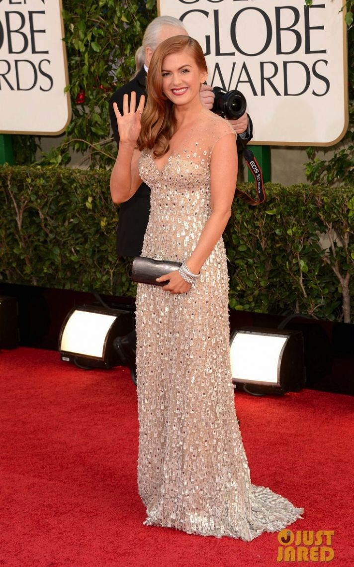 isla fisher golden globes 2013 red carpet 04