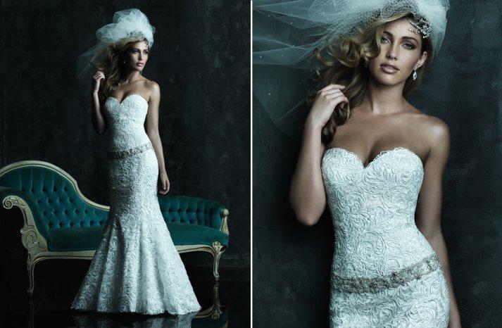 2013 Sweetheart Neckline Wedding Dresses Allure Couture C245