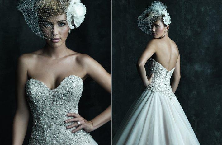 2013 Sweetheart Neckline Wedding Dresses Allure Couture C244 b