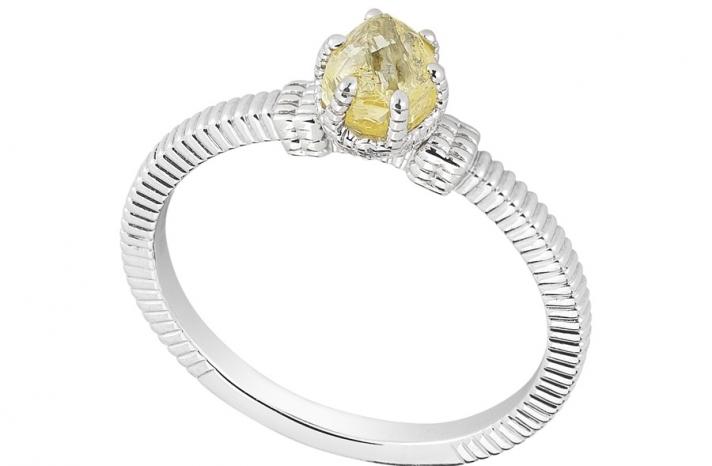 Unique Engagement Ring Diamond In The Rough 3D339 0 79 B