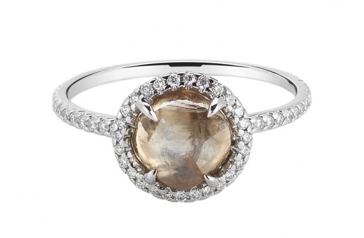 Rough Diamond Engagement Ring 3D045 2 38 A