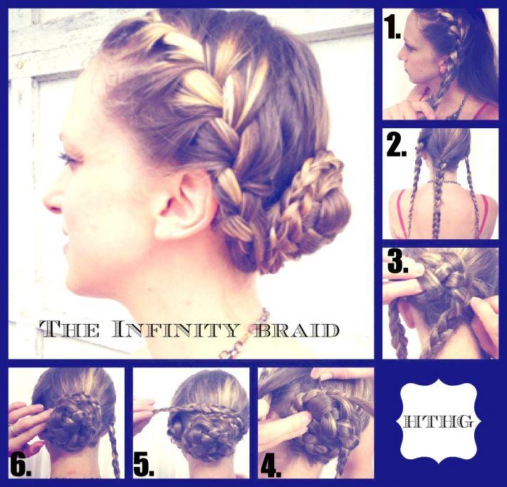 How To hair Girl DIY Wedding Hairstyle Infinity Braid