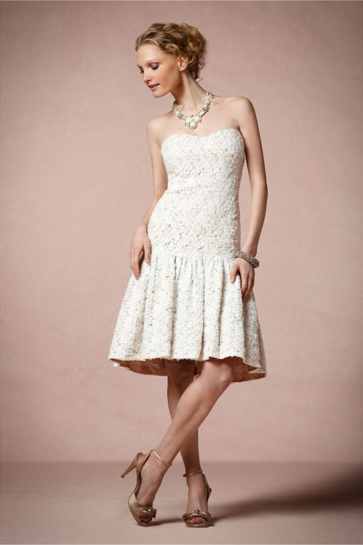 Ivory Lace LWD for the Wedding Reception