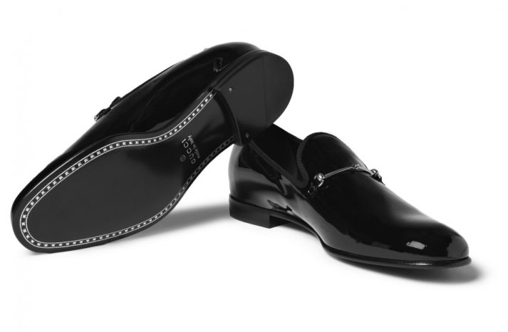 Gucci Patent Slippers for the Black Tie Groom