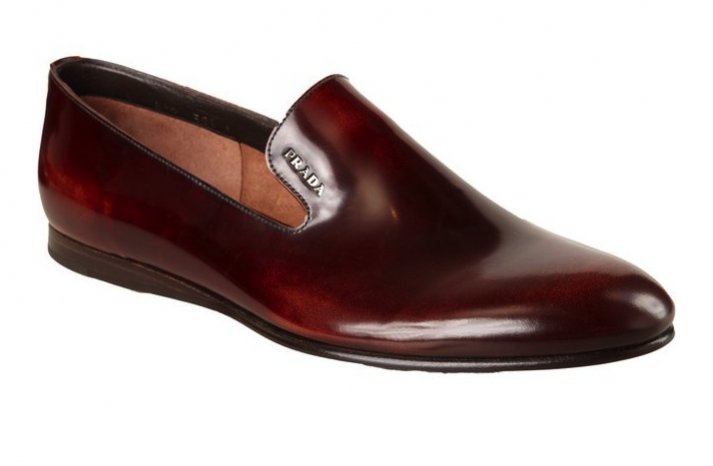Brown Leather Prada Shoes
