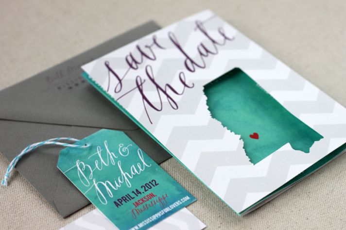 Travel Cutout Wedding Save the Date