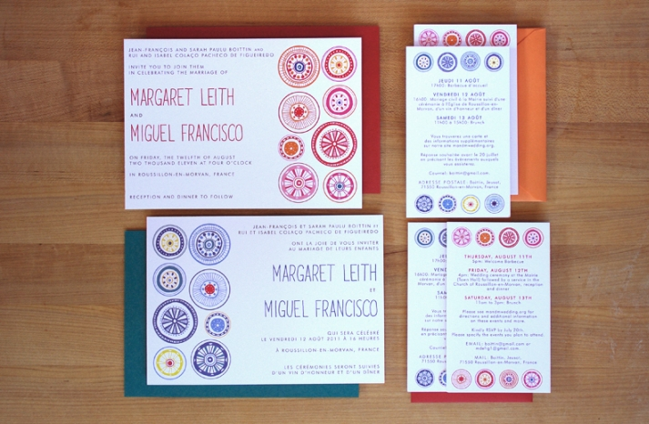 Modern Circles Wedding Invitation 1