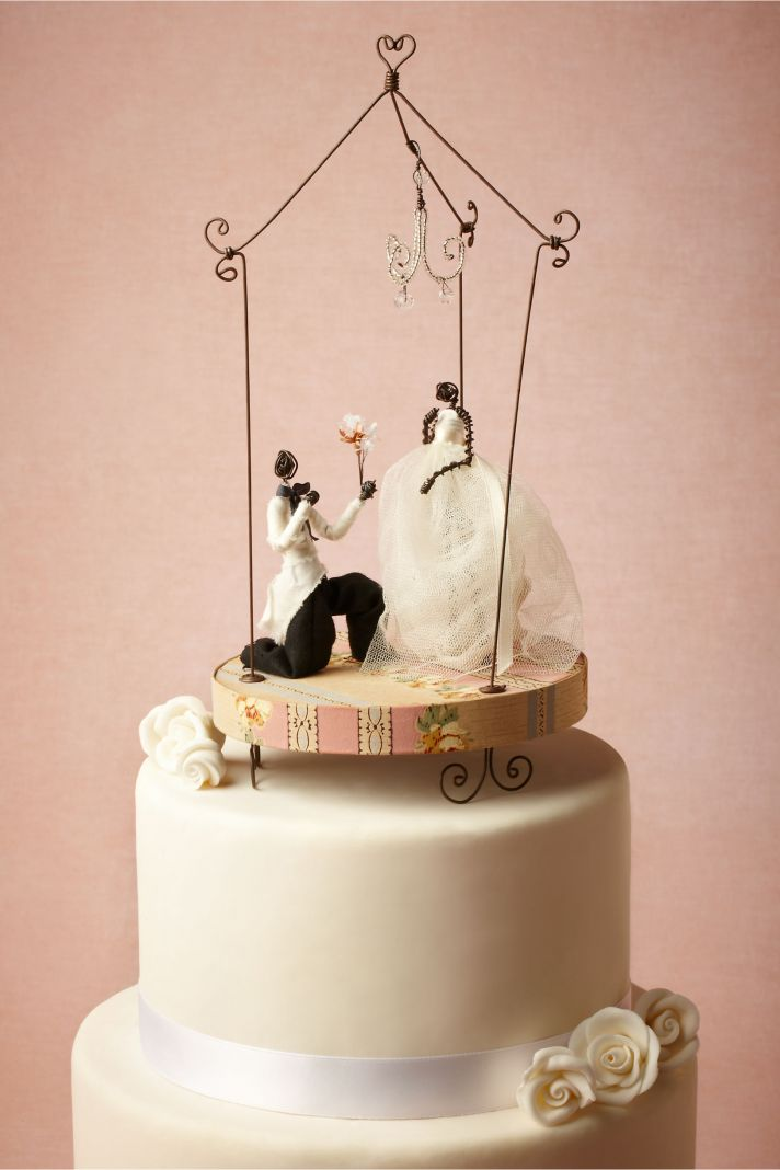 Romantic Handmade Wedding Cake Topper by BHLDN