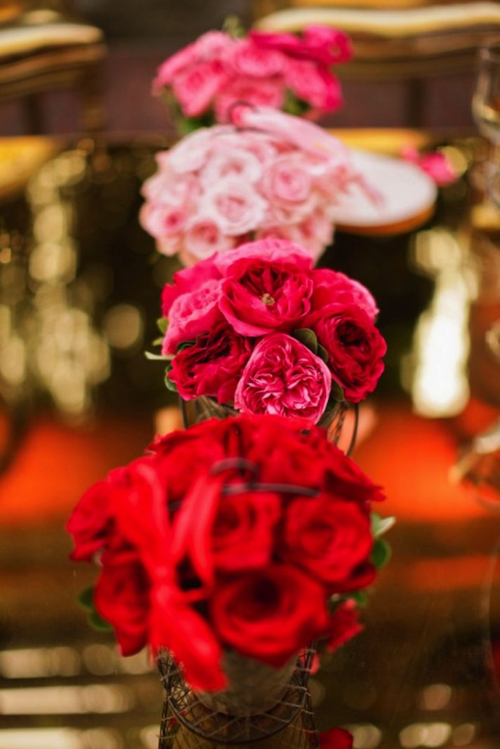 Beautiful Ombre Wedding Bouquets And Centerpieces