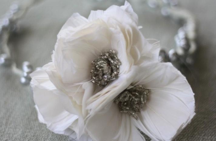 White Feather Poppy Wedding Flower DIY