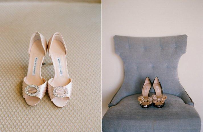 neutral wedding shoes elegant