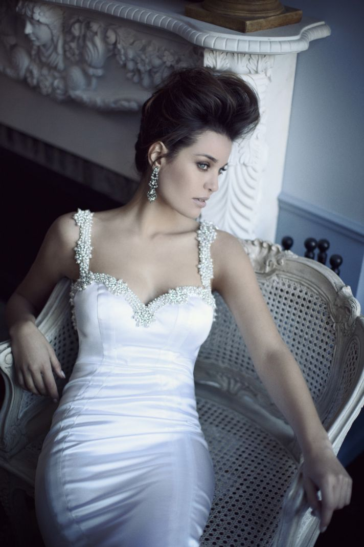 Daring open back wedding dress