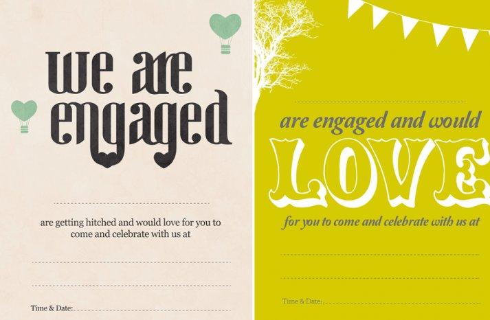 unique engagement announcements vintage handmade