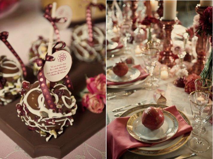 Romantic Wedding Reception Inspiration Vintage Valentine Red and Pink