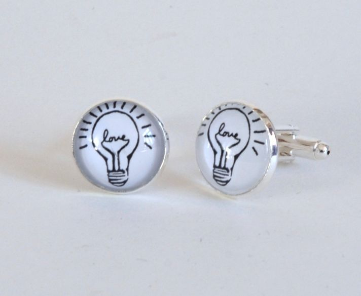 Mad Scientist Wedding Cuff Links