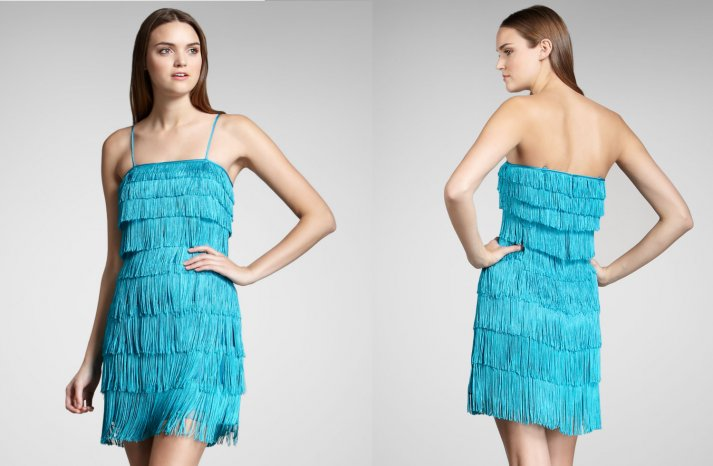 Aqua Fringe Dress for Flapper Inspired Bridesmaids