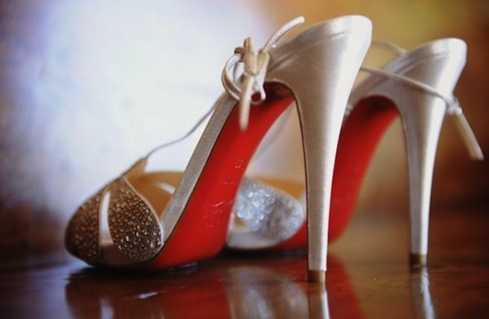 Ivory with Crystals Christian Louboutin Wedding Shoes