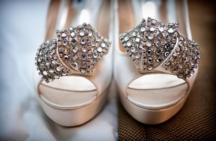 Art Deco Wedding Style Crystallized Bridal Heels