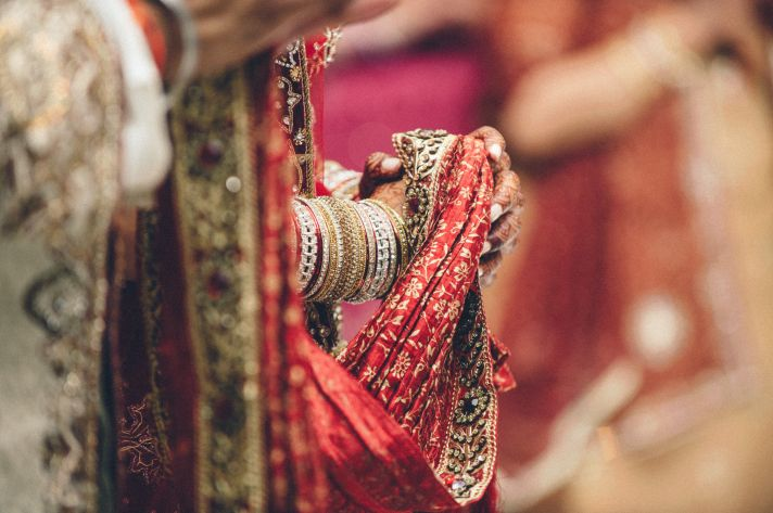 Indian Groom Looks at Bride Lovingly