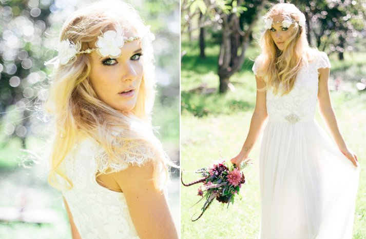 Lace wedding gowns handmade bridal 1