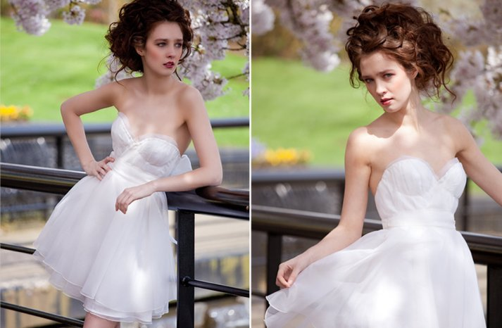 Sweetheart neckline wedding reception dress whimsical romance