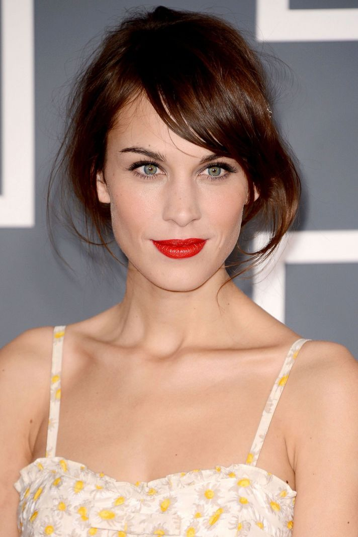 Bright Red Lips Wedding Makeup Inspiration