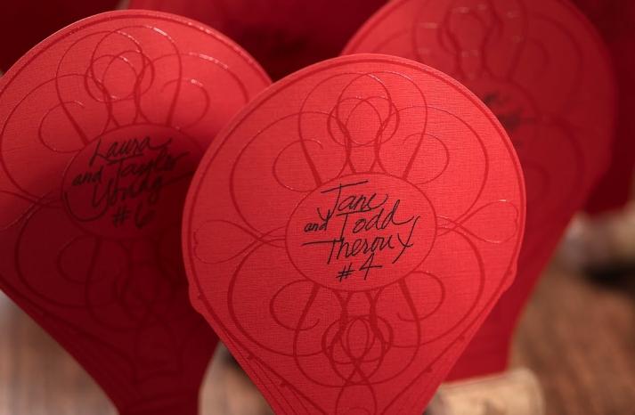 Hot air balloon wedding escort cards